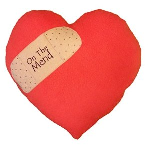 On The Mend Red Heart Pillow by Pillows Your Way
