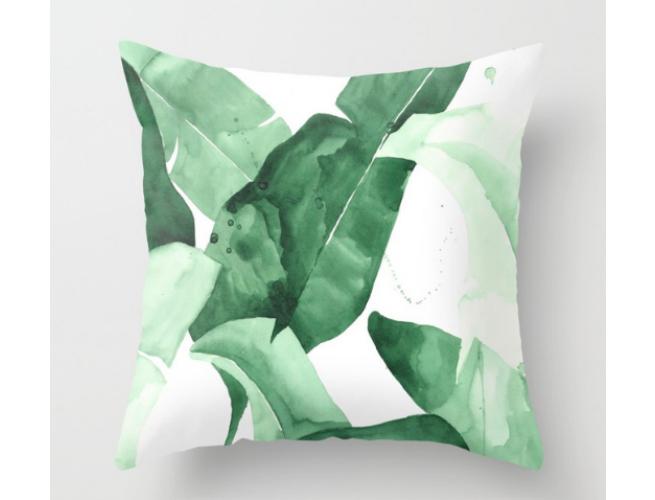 Society 6 Palm Print Throw PIllow