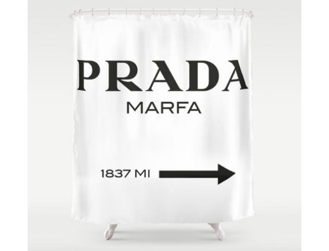 Society 6 Prada Curtain