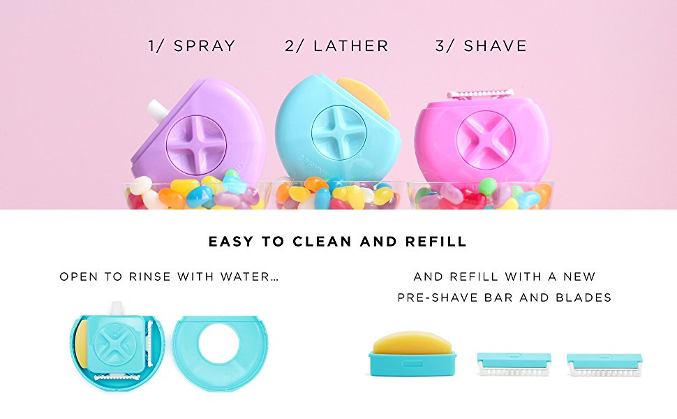 travel razor portable sphynx women all-in-one rinse soap shave