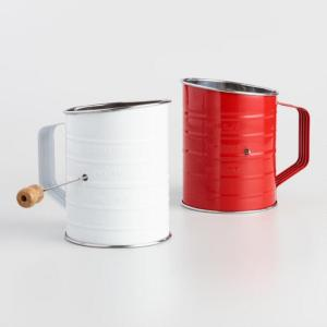 Red and White Retro Flour Sifters Set of 2 by World Market