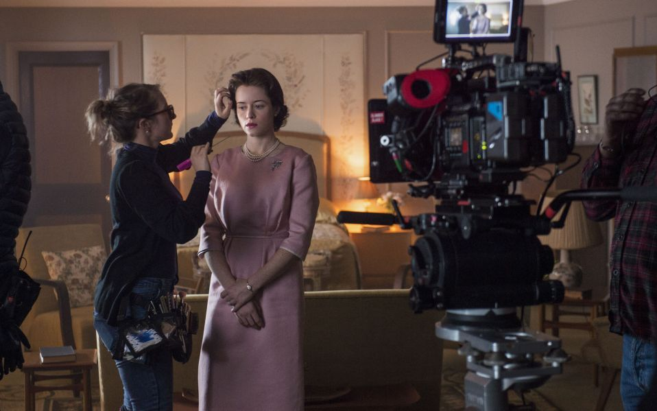 the crown behind the scenes claire