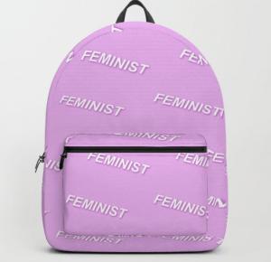 feminist backpack society6