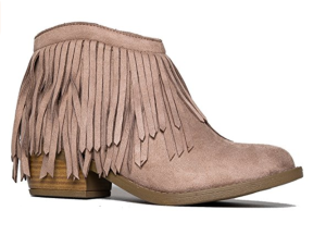 Suede Boots Fringes