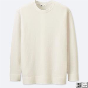 Off White Sweater Men's Uniqlo