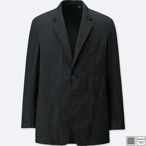 Black Cotton Jacket Uniqlo