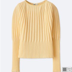 Yellow Sweater Rib Women's Uniqlo