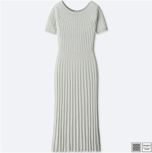 Gray Crewneck Dress Short Sleeve Uniqlo