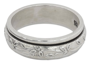spinner ring silver men's