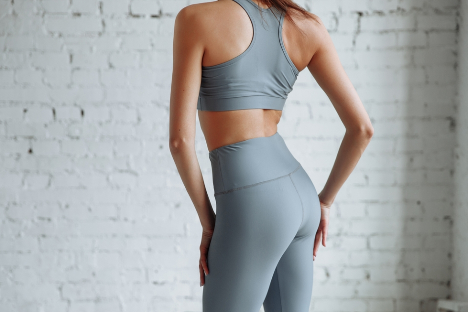 Womens Capri Yoga Pants Leggings With Pockets High Waisted GYM Fitness Trousers