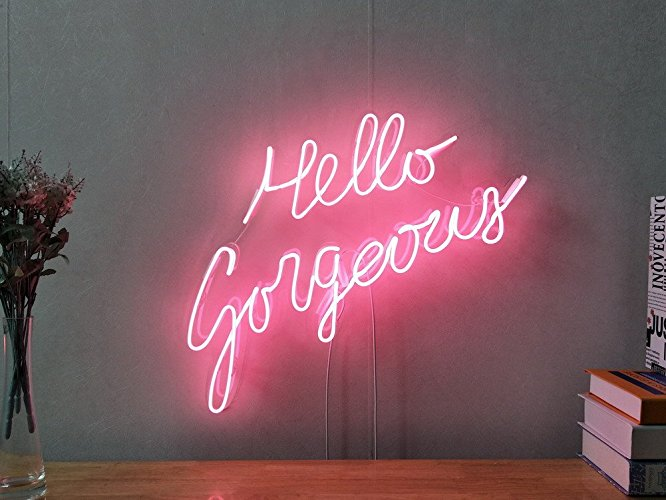 anti valentine's day best products singles awareness day hello gorgeous neon sign