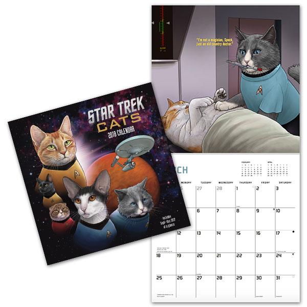 star trek cats calendar