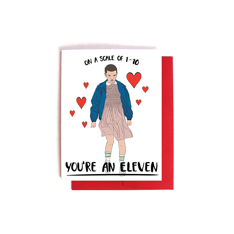 stranger things valentines  card