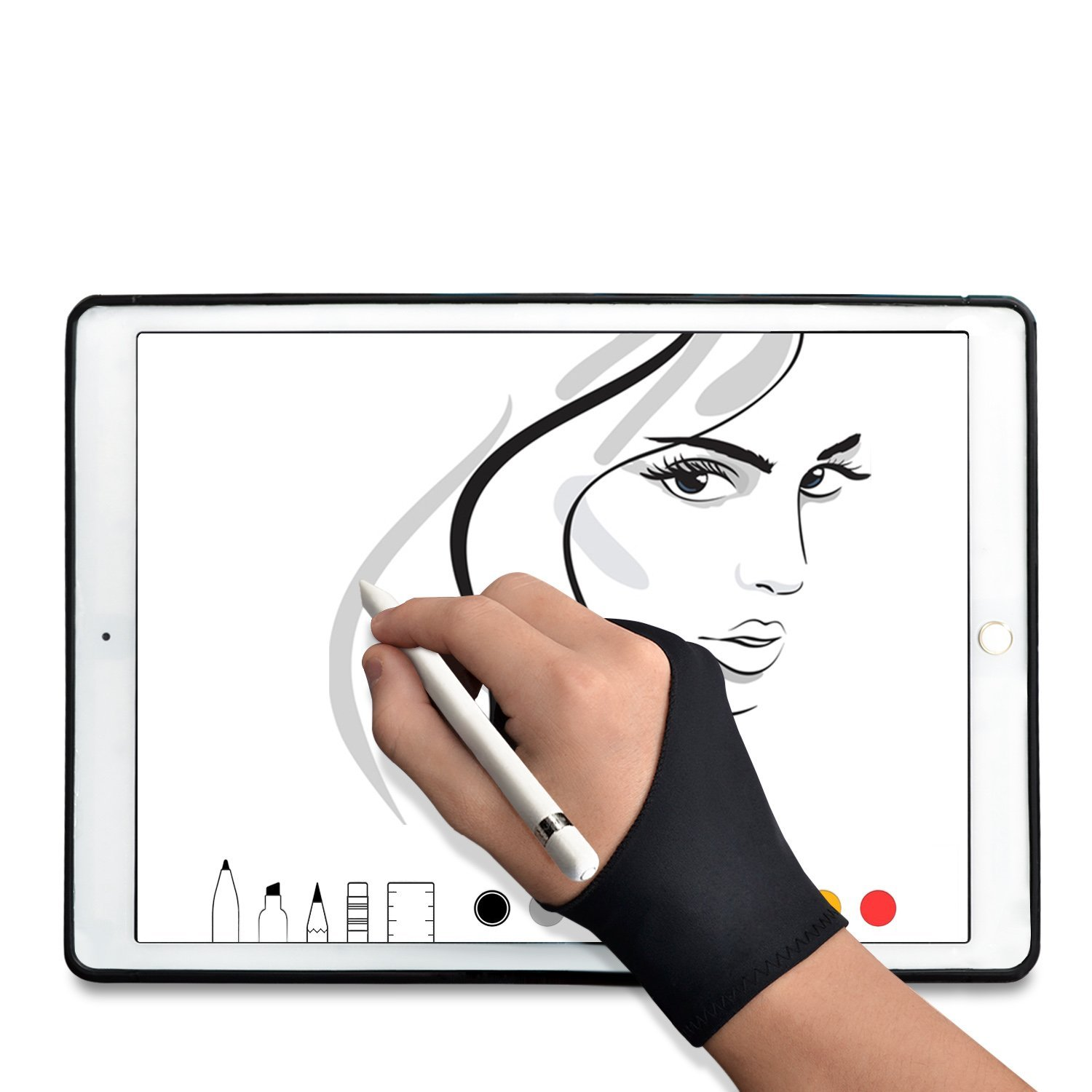 best stylus options artists under 50 anti-fouling glove