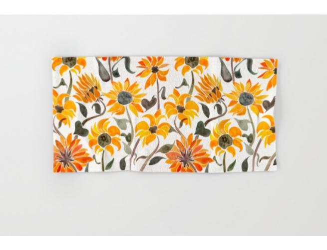 society 6 sunflower towel