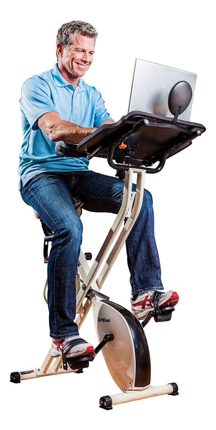 how to work out at work fitdesk exercise bike and massage bar