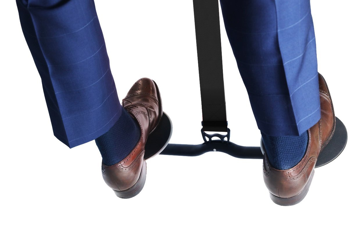 how to work out at work under desk leg swing hovr