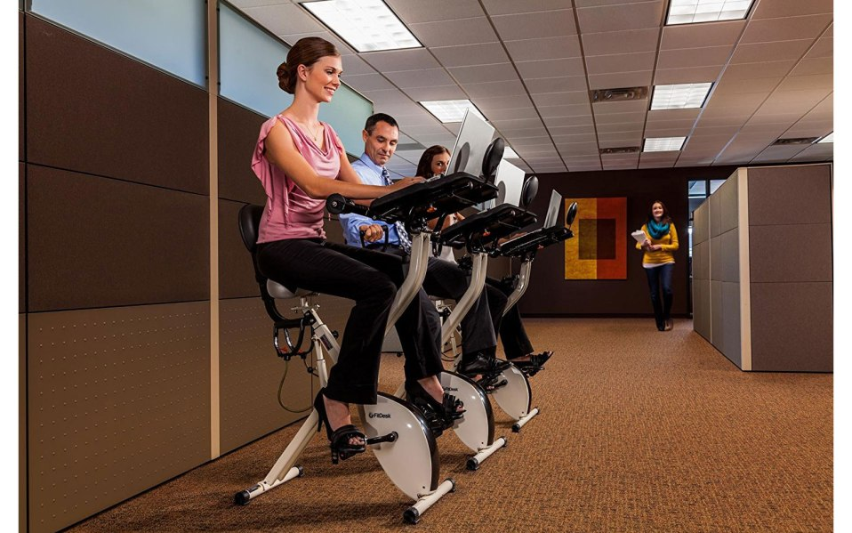 how to work out at work