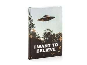sci-fi notebook x-files merch