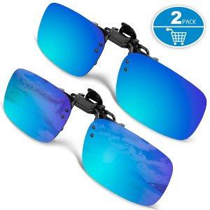 Blue Sunglasses Clip Ons