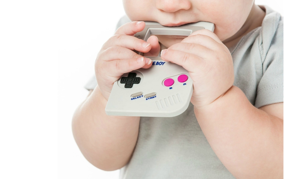 game boy baby teether