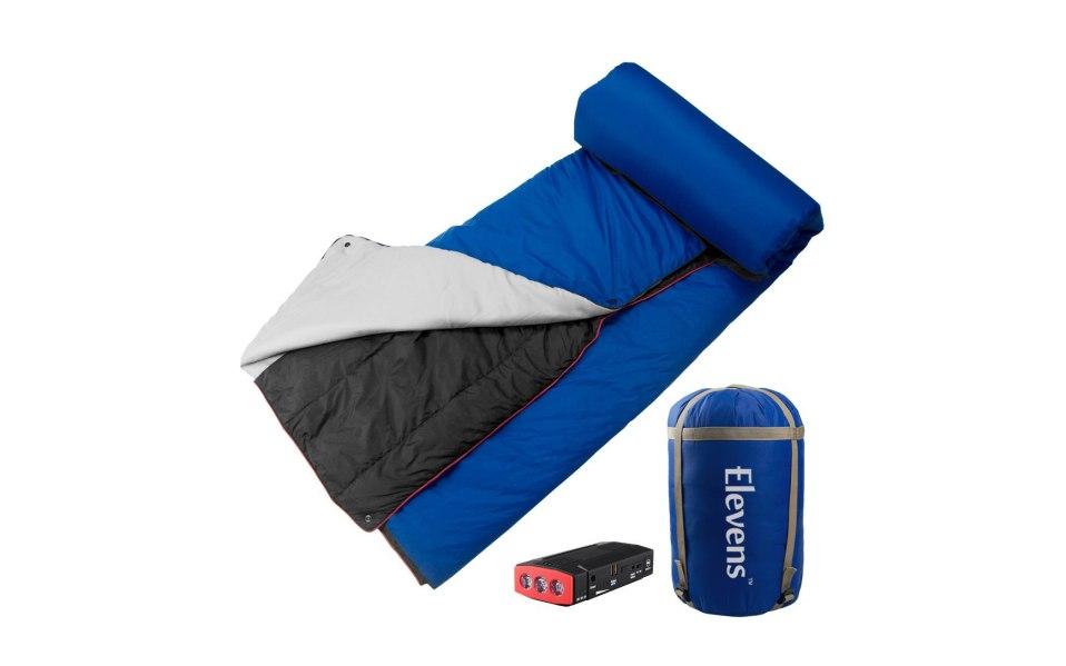 battery blanket heated sleeping bag cold