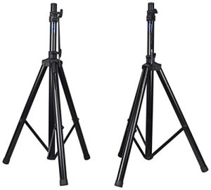 Pair Rockville RVES1 Adjustable Tripod DJ PA Speaker