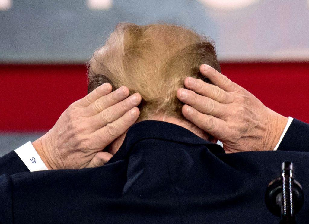 donald trump bald spot hair cpac