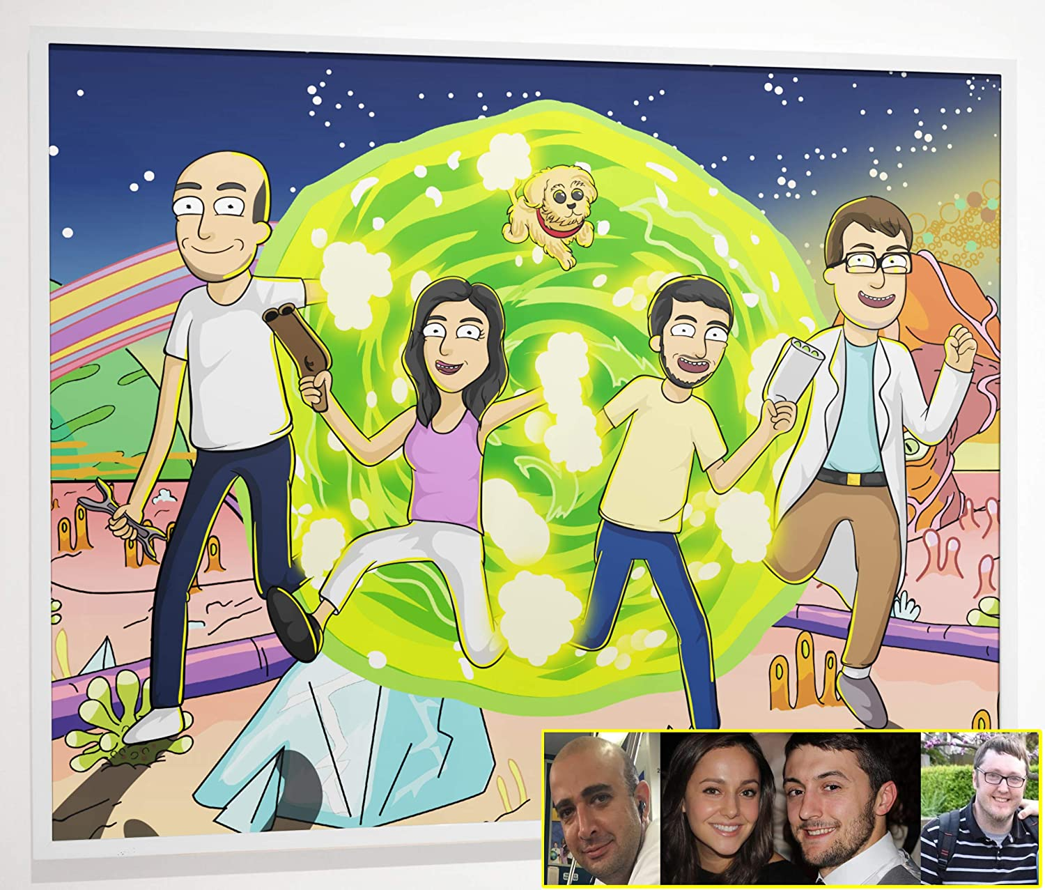 Personalized Rick and Morty poster