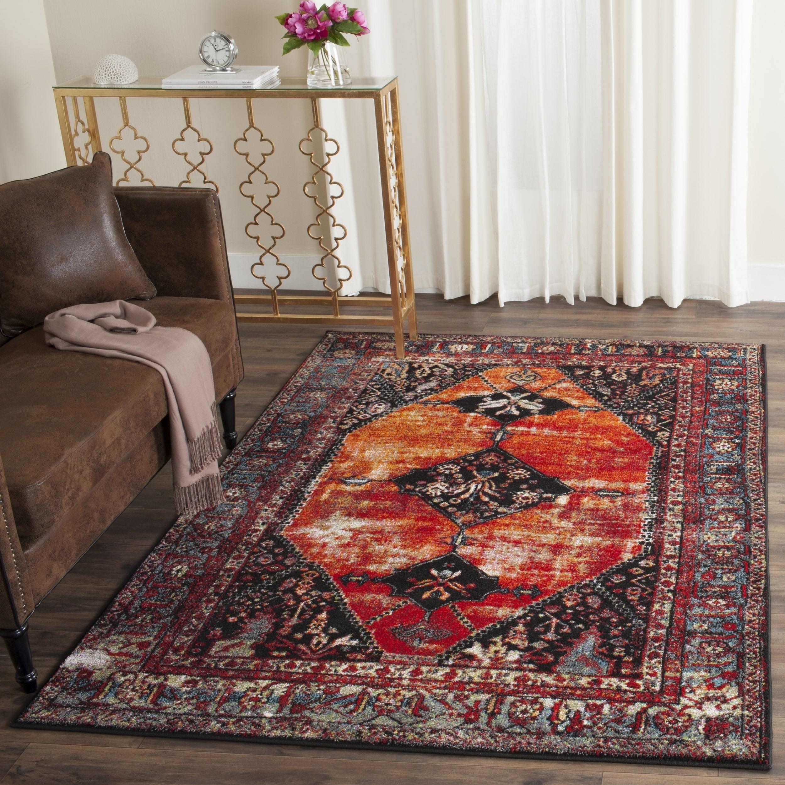 vintage rugs best persian-inspired on sale orange multi-color safavieh