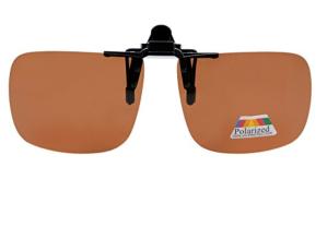 Clip On Sunglasses Brown