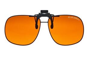 Orange Clip On Sunglasses