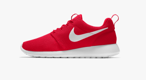Red Sneakers Nike Running Shoes