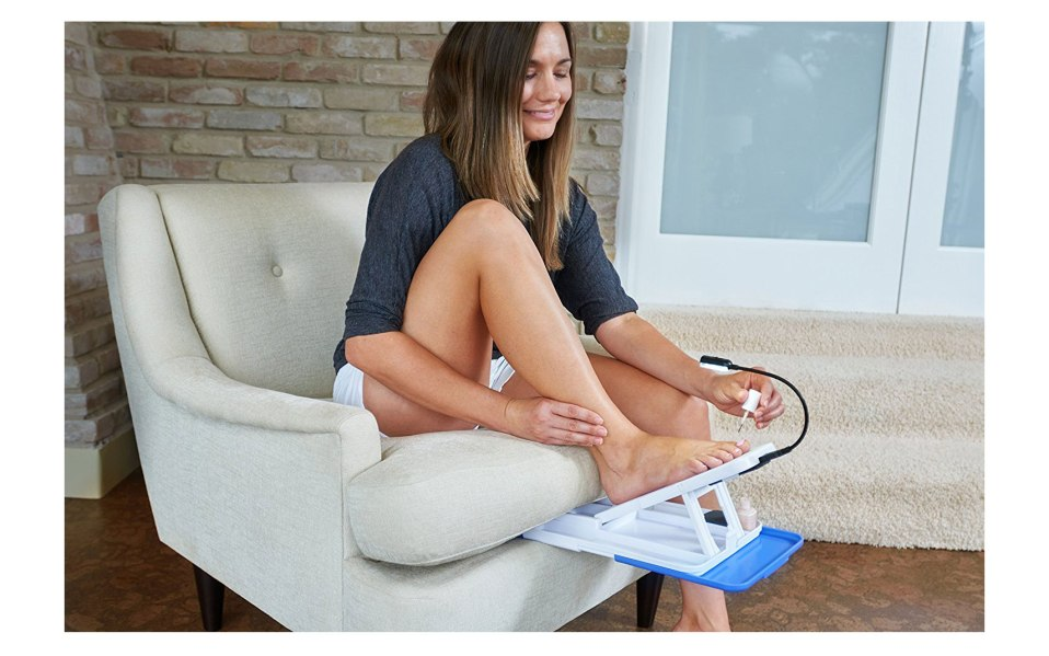 home pedicure tool paint toes stedi