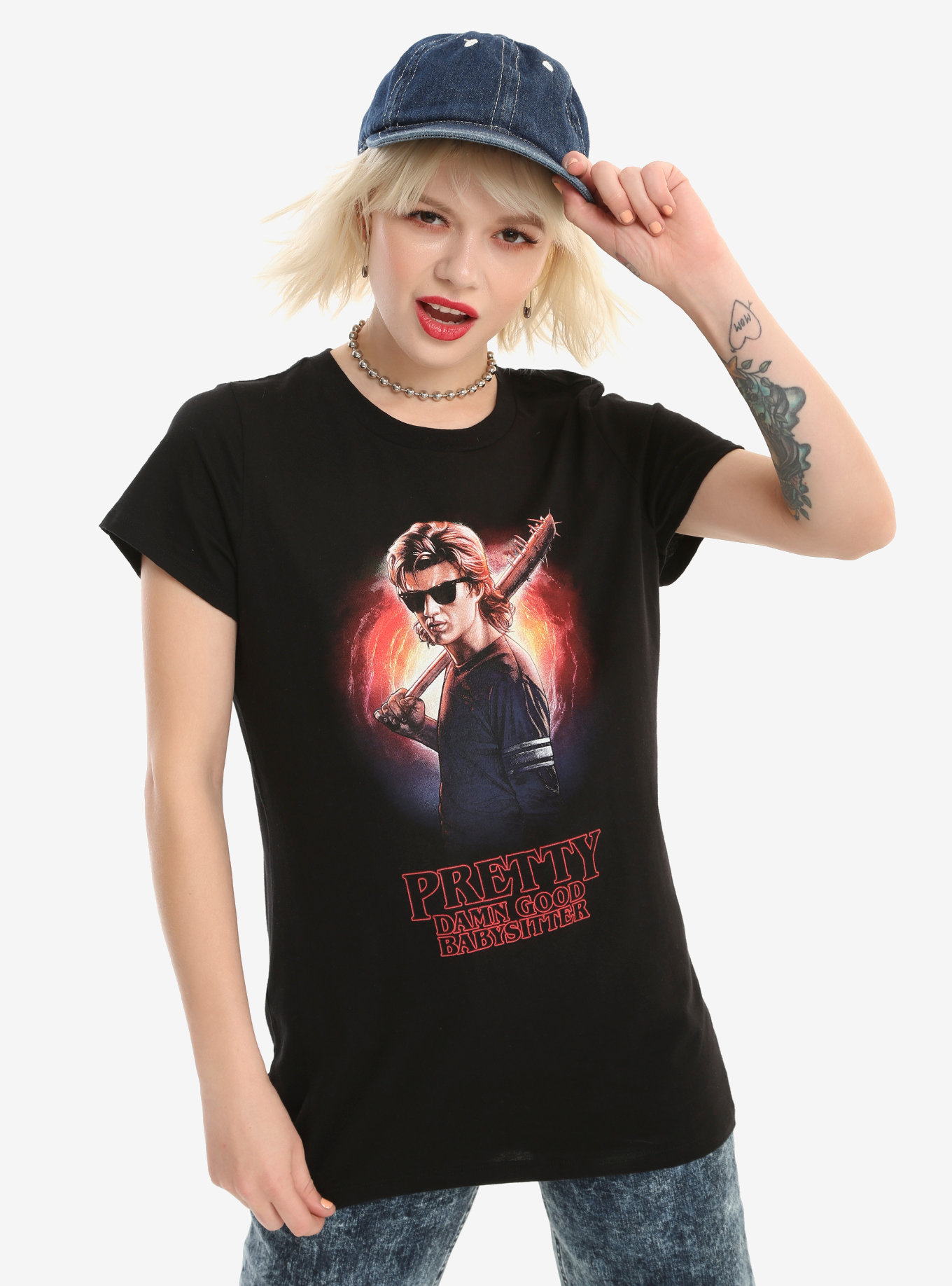 steve harrington baby sitter t-shirt