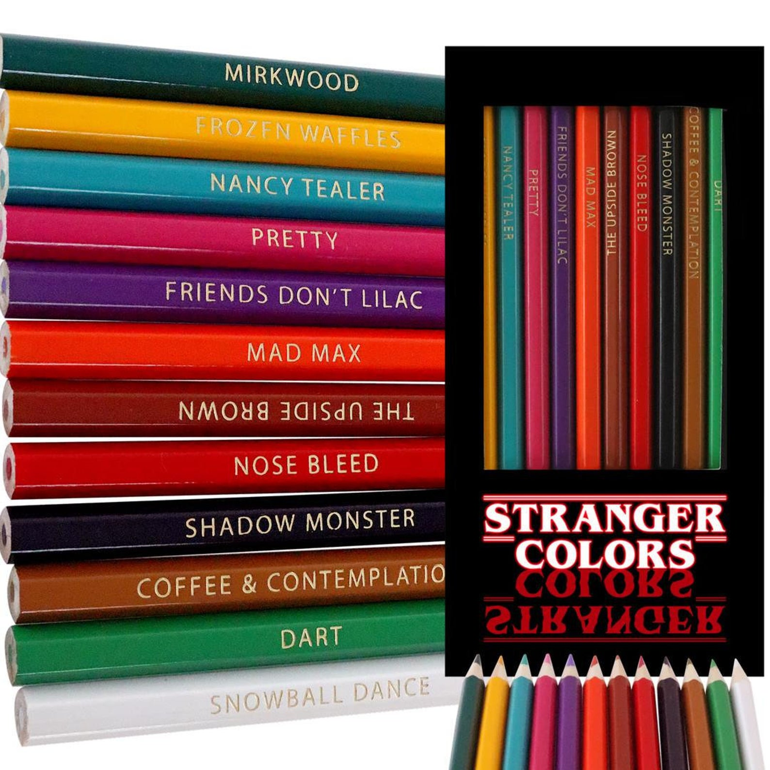 Stranger Things pencil crayons