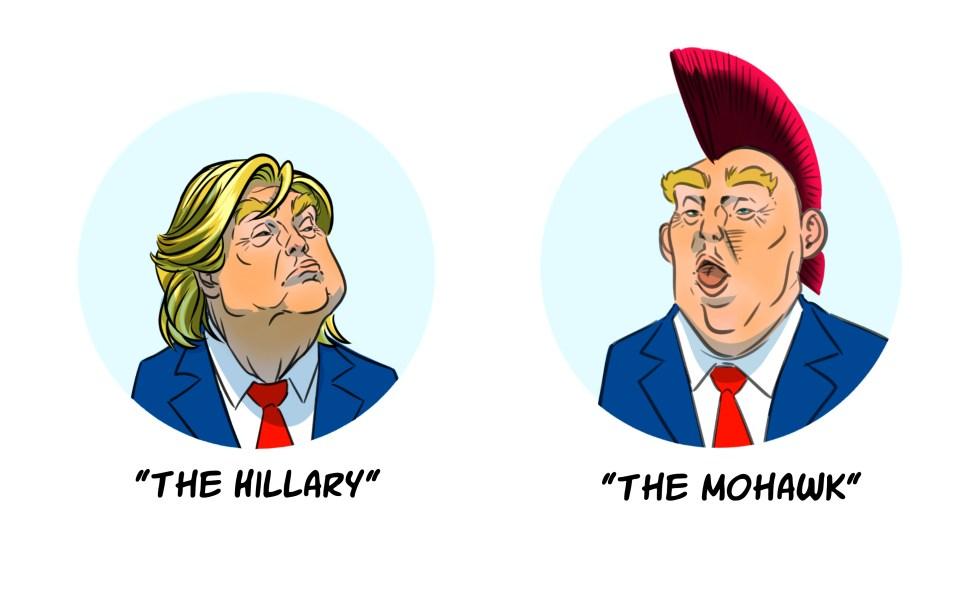 Donald Trump Hair Alternative Styles