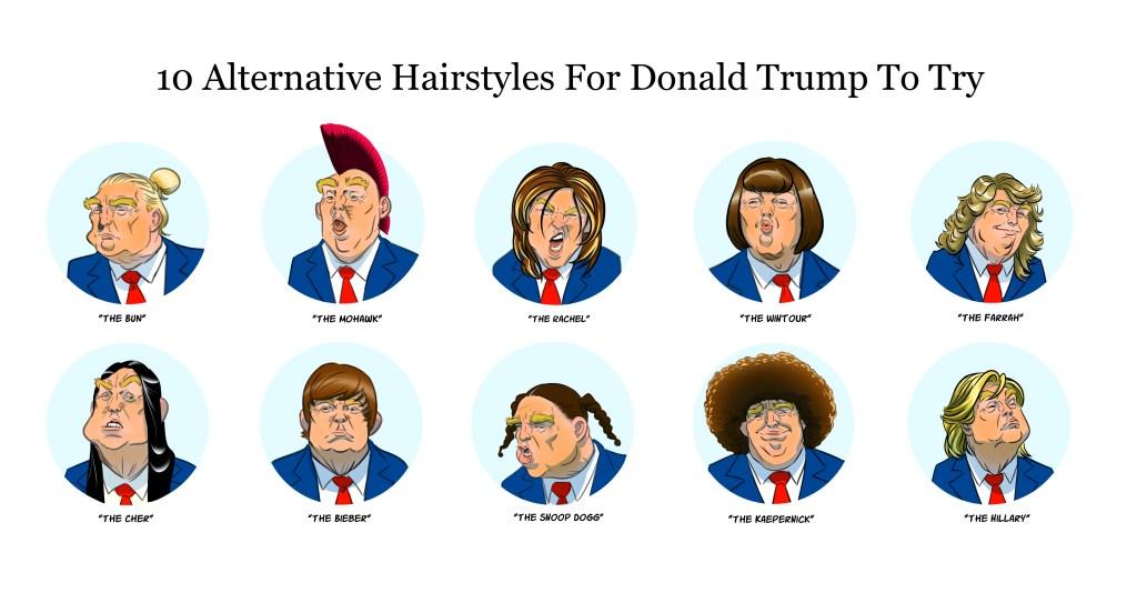 Donald Trump Hair Real Alternative Styles