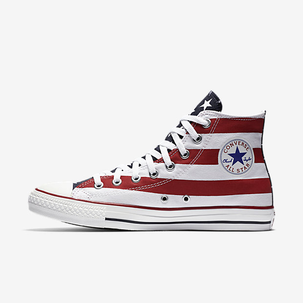 USA shoes red white blue sneakers olympics converse chuck taylor americana high top