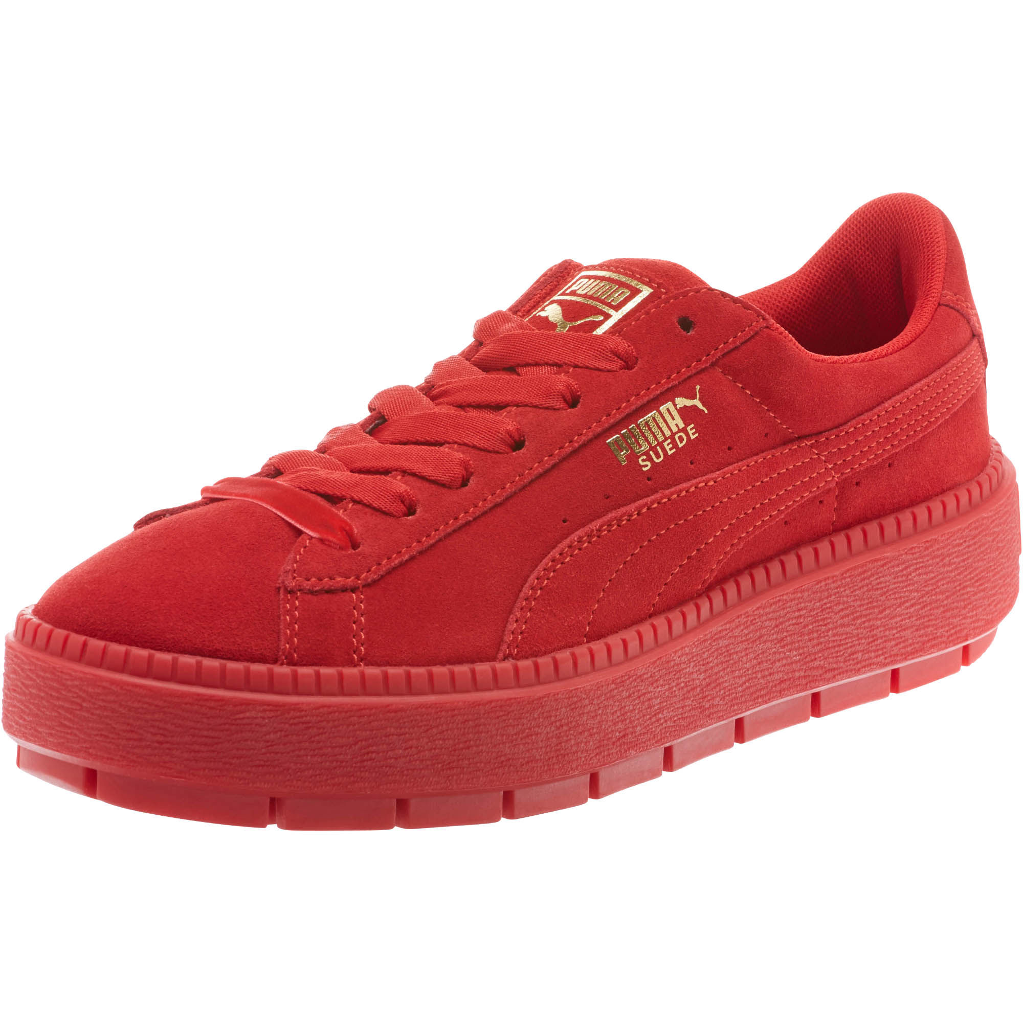 USA shoes red white blue sneakers olympics puma suede platform trace valentine's day women's sneakers