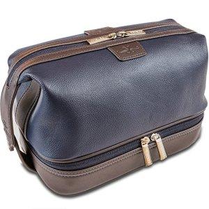 Vetelli Leo Leather Toiletry Bag for Men