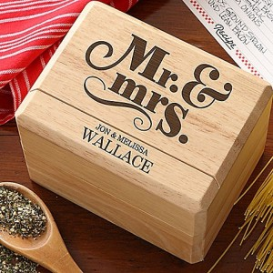 Recipe Box Personalized, unique wedding gift ideas