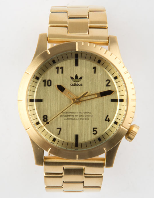 adidas mens gold watch sale