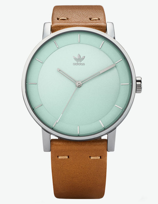 adidas district watch leather strap sale