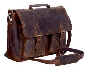 Vintage Leather Bag Briefcase