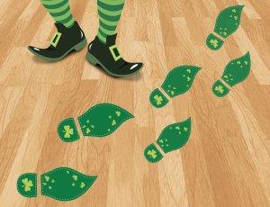 St. Patty's Day Leprechaun Footprints