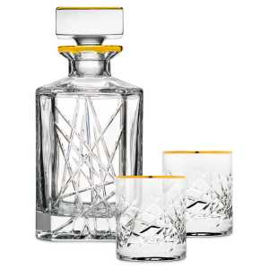 Whiskey Set Crystal Gold