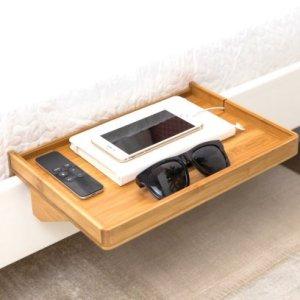Bamboo Bedside Shelf by BedShelfie