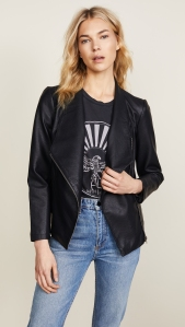 Black Motorcycle Jacket BB Dakota