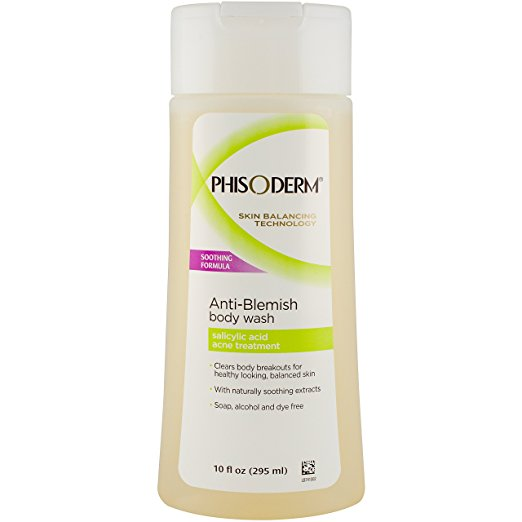best acne products body breakouts butt back phisoderm anti-blemish body wash